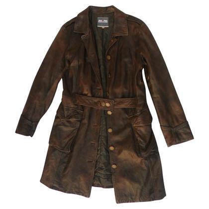 Jean Paul Gaultier leather coat