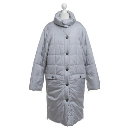 Chanel Wattierter Wintermantel, Silberfarben