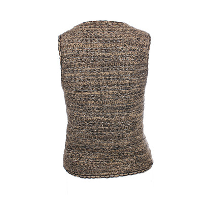 Chanel light brown bouclé vest