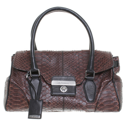Jil Sander Reptile leather handle bag