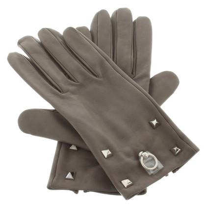 Hermès Leren handschoenen in Gray