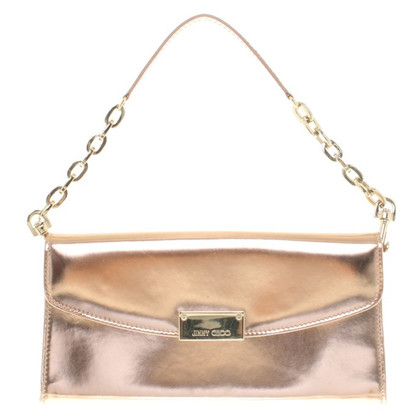 Jimmy Choo Rose gold color clutch