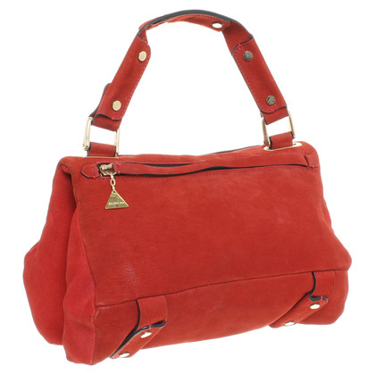 Other Designer Goldenlane - suede handbag in red