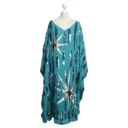 Antik Batik Kaftan in petroleum