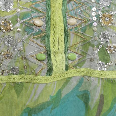 Antik Batik Seiden-Tunika in Grün/Gelb Grün Auslass Klassisch Billig Bester Großhandel Günstig Online Mode Online Finish Zum Verkauf ap54vIY