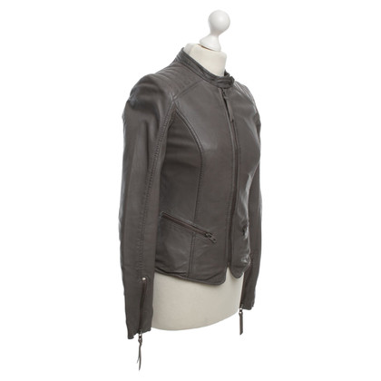 Other Designer Tigha - Leather Jacket in Grey