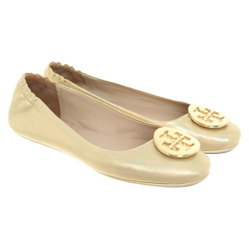 b10aa32982715 Tory Burch Slippers/Ballerinas Leather in Gold - Second Hand Tory ...