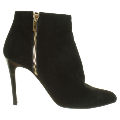 Lanvin Suede leather ankle boot in black