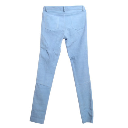 Lala Berlin Wild leather pants in light blue
