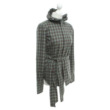 Ralph Lauren Black Label Geruite blouse met de details