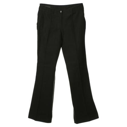 Donna Karan Pantaloni di lino nero