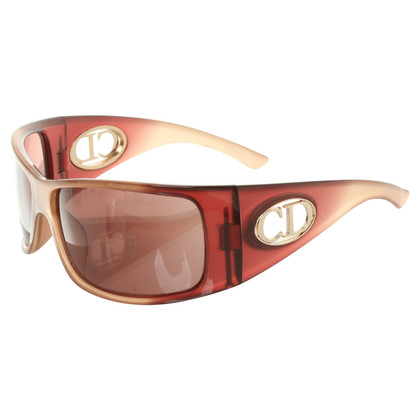 Christian Dior Sunglasses in Red / Beige
