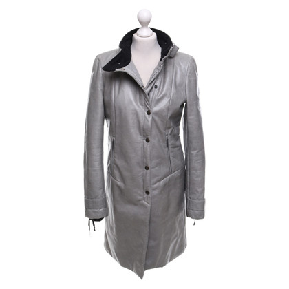 Costume National Leather coat in grey