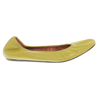 Lanvin Ballerinas in lime green