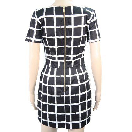 French Connection Dress in black and white
