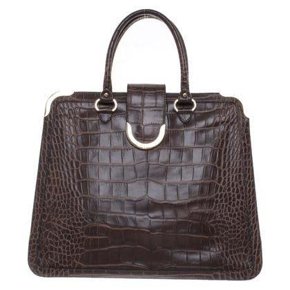Aigner Handbag with reptile embossing