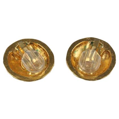 Chanel Boucles d'oreilles de couleur or