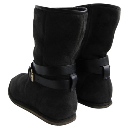 Costume National Bottes en peau de mouton