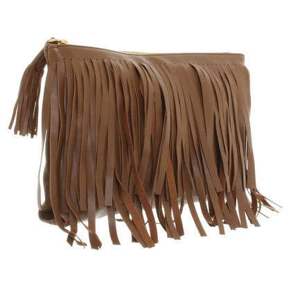 Prada clutch with leather fringes