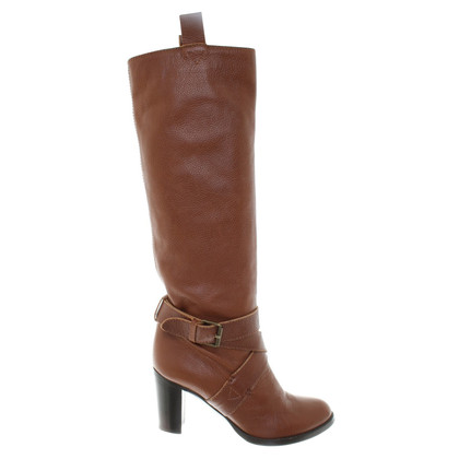 L'autre Chose Leather boots in brown