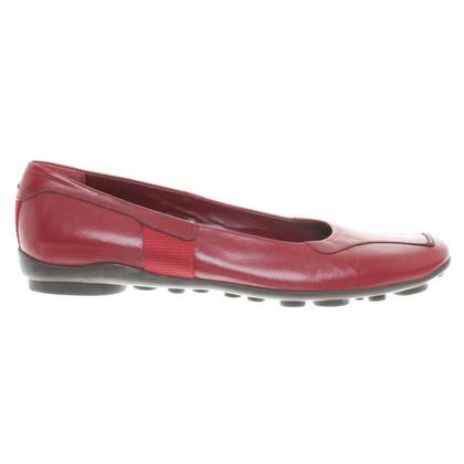 Prada Ballerinas in Rot