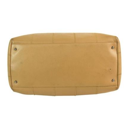 Chanel Beige vierkante steek satchel