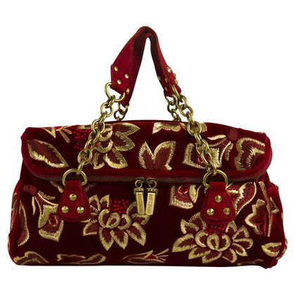 Just Cavalli sac en velours rouge