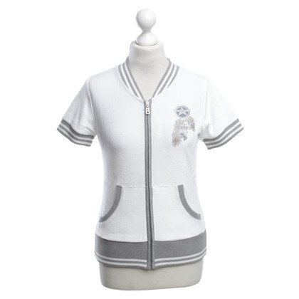 Bogner Sweatshirt jacket in white