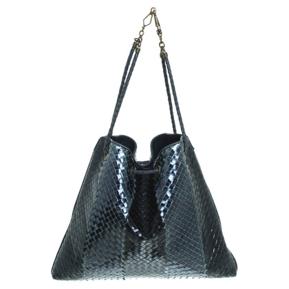 Bottega Veneta Lackleder Flecht- Shopper