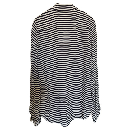 Theory Striped silk blouse