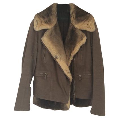 Ermanno Scervino Jacket with chinchilla fur trim