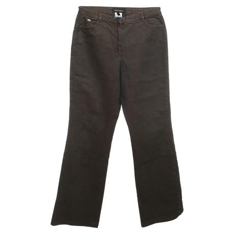 Braun mit Escada Besatz Escada Strassstein Strassstein mit Jeans Besatz Jeans zOq447