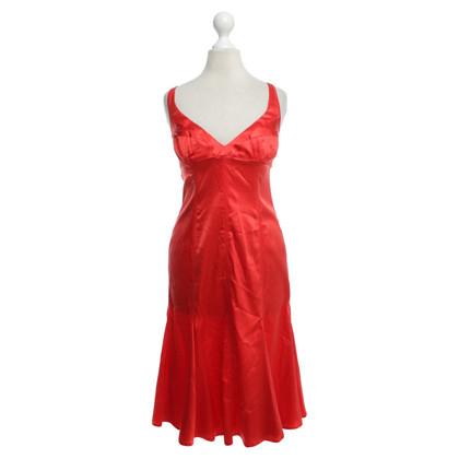 Just Cavalli Zijden jurk in rood