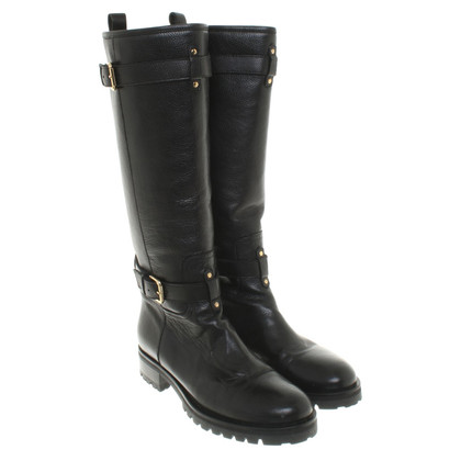 L'autre Chose Leather boots in biker look