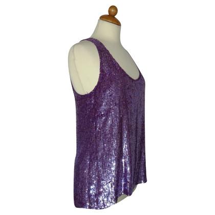 Twin-Set Simona Barbieri sequin top of silk