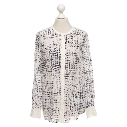 Other Designer iHeart silk blouse with pattern