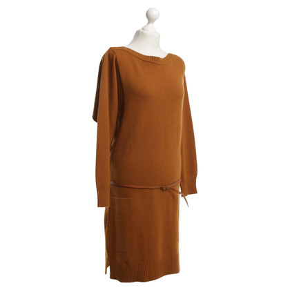 Hermès Ocher cashmere dress