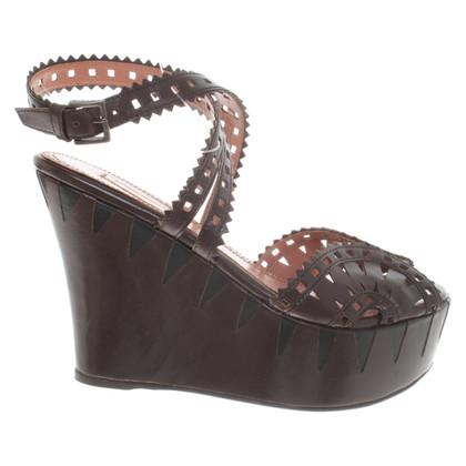 Alaïa Leather wedges