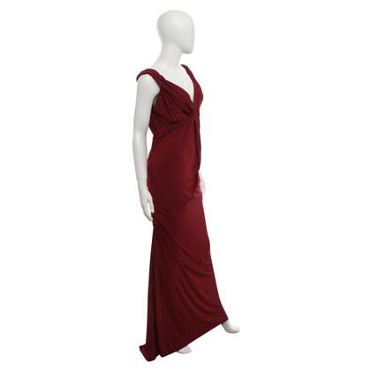 Donna Karan Form-fitting dress in claret