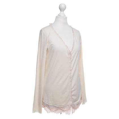 Marithé et Francois Girbaud Vest in Cream