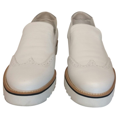 Hogan Shoes in white leather