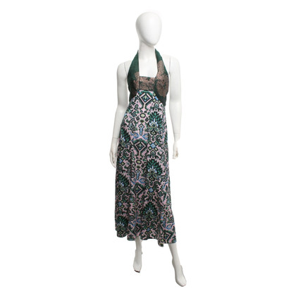 Dries van Noten Halter dress with pattern