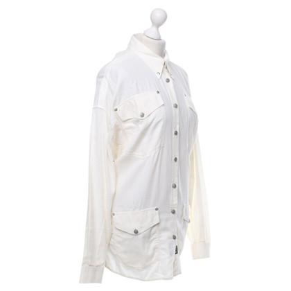 Versace Bluse in Cremeweiß
