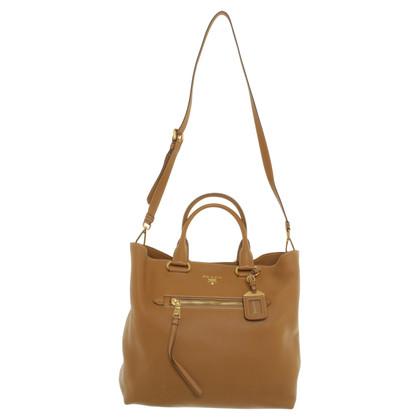 Prada Caramel brown leather hand bag
