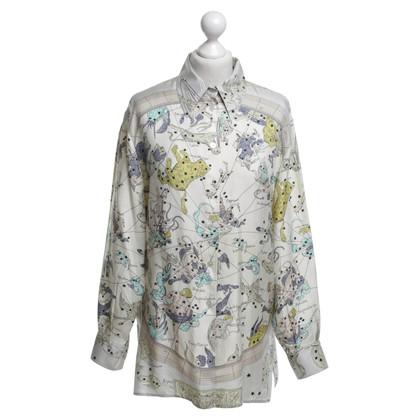 Hermès Blouse with zodiac motif