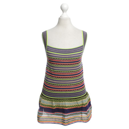 Missoni Top con motivo a strisce colorate