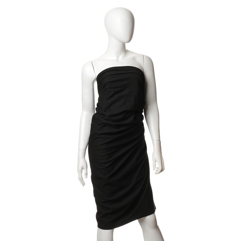 donna karan bandeau kleid in schwarz second hand donna. Black Bedroom Furniture Sets. Home Design Ideas