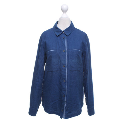 Iris & Ink Jeansblouse in blauw