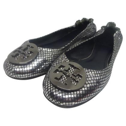 Tory Burch Reva ballerinas silver