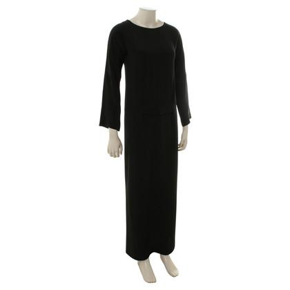 Jil Sander Lange mouwen jurk in zwart